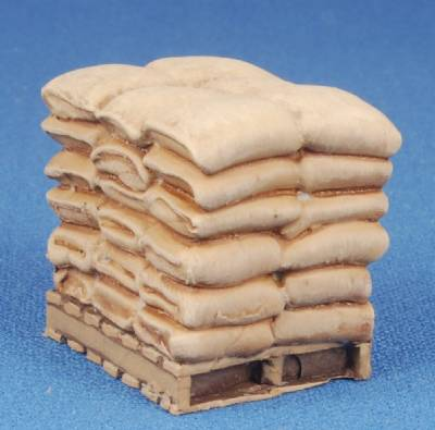 Pallet with sacks of Grain