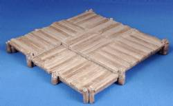 Large wooden platform (painted)