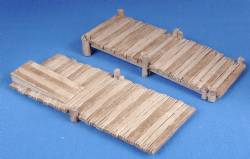Rising wooden Jetties (2)(painted)