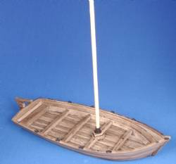 Longboat with Mast (unpainted)